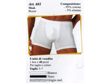 Diadora 601 pánské boxerky (Barva černá, Velikost oblečení 2XL)