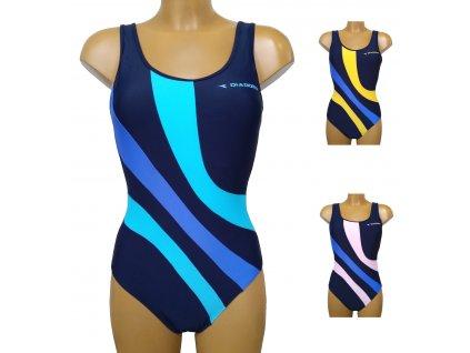 Diadora 61066 dámské plavky (Barva modrá, Velikost oblečení XS)