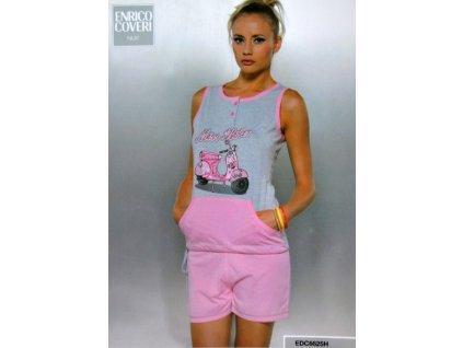 Enrico Coveri dámské pyžamo 6625 (Barva růžová, Velikost oblečení XL)