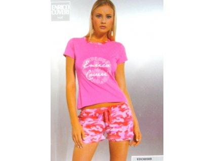 Enrico Coveri dámské pyžamo 6656 (Barva růžová, Velikost oblečení XL)