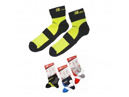 NEW BALANCE NBU70 Bike 2páry ponožky (Barva modrá, Velikost oblečení 43-46)