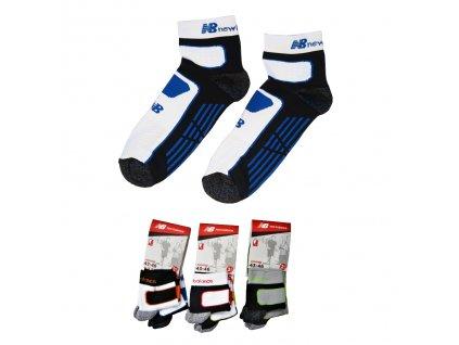 NEW BALANCE NBU72 Jogging 2páry ponožky (Barva žlutá, Velikost oblečení 43-46)