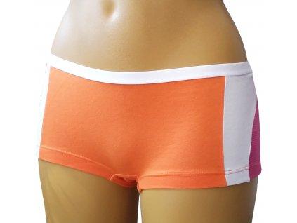 KEY 808TXHC dívčí kalhotky (Barva oranžová, Velikost oblečení L)