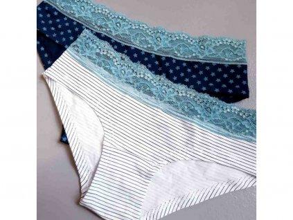 253 cotonella cvetle tyrkysove kalhotky s krajkou