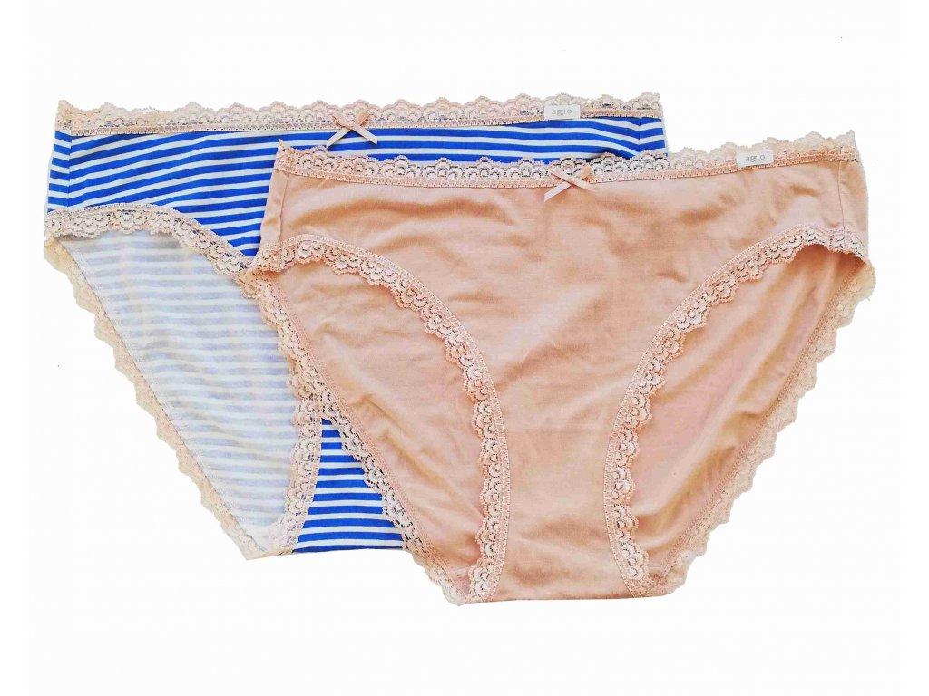 Agio TG-S21 2ks dámské kalhotky, tělová, L