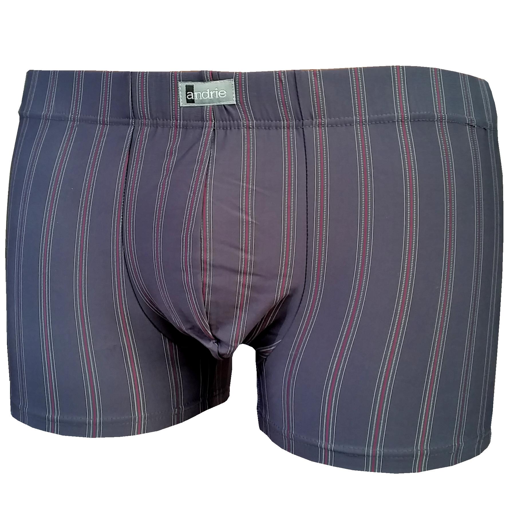 Andrie PS 4442 pánské boxerky, šedá tmavá, L