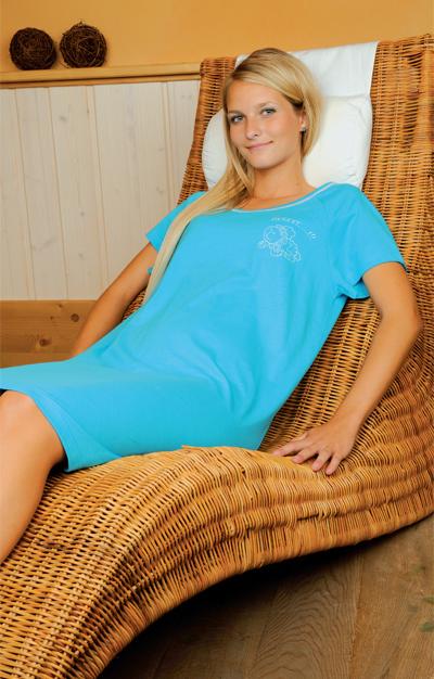 Andrie PS 9056 dámská noční košile, fuxia, S