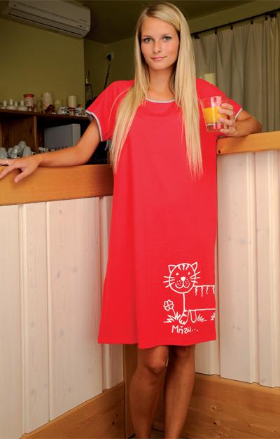 Andrie PS 9062 dámská noční košile, červená, S
