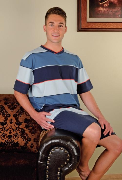 Andrie PS 9130 pánské pyžamo, modrá, M