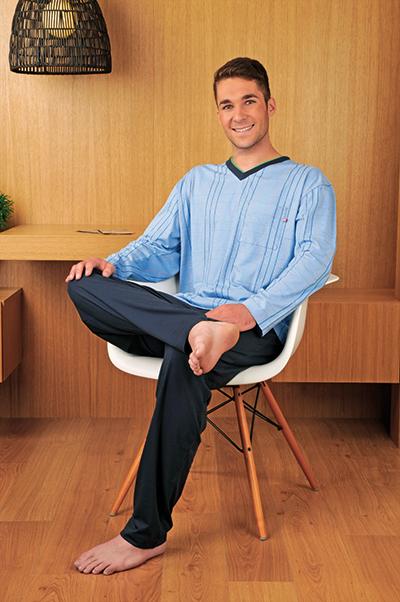 Andrie PS 9140 pánské pyžamo, modrá tmavá, M