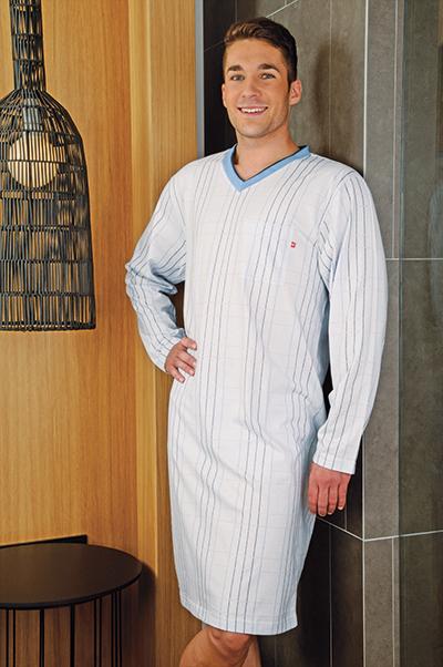 Andrie PS 9142 pánská noční košile Barva: modrá tmavá, Velikost: M
