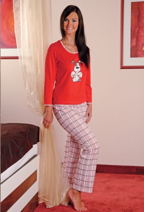 Andrie PS 9175 dámské pyžamo, růžová, XL