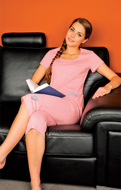 Andrie PS 9206 dámské pyžamo, červená, M