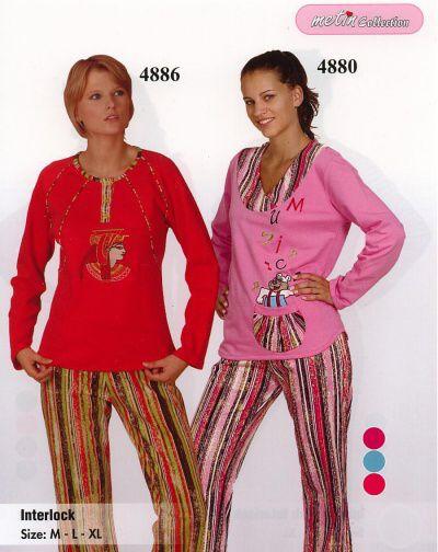 Bella Linda 4880 dámské pyžamo, tyrkysová, L