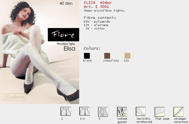 FIORE 5001 ELISA dámské punčochy, černá, M