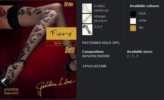 FIORE4007 SOFFI dámské punčochy, černá, S