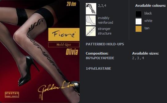 FIORE 4008 OLIVIA dámské punčochy, tan, S