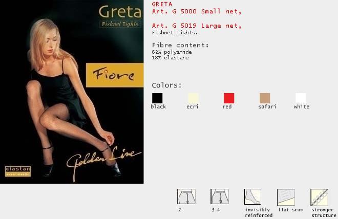 FIORE 5000 GRETA FISHNET dámské punčochy, bílá, L