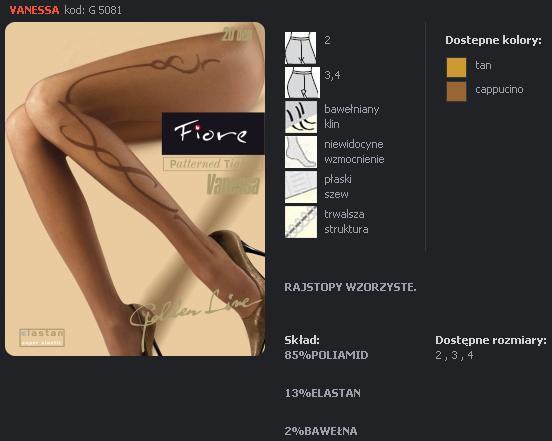 FIORE 5081 VANESSA dámské punčochy, capuccino, M