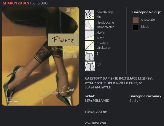 FIORE 60056 SHARON dámské punčochy, černá, S