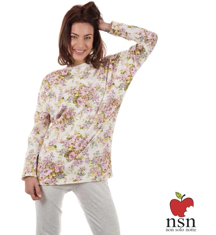 NSN 15039 dámské pyžamo, smetanová, L