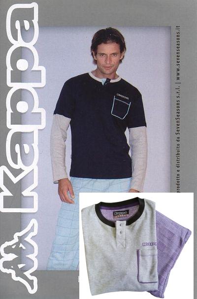 Kappa 4202 pánské domácí oblečení, modrá, M