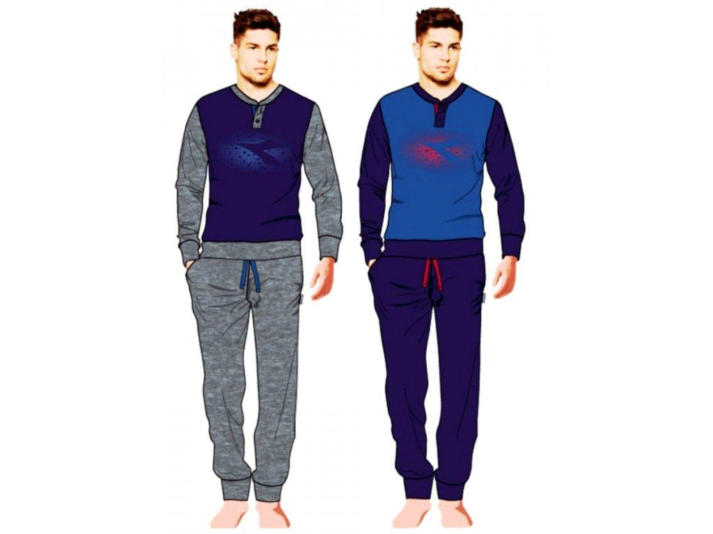 Diadora DPJ60830 pánské pyžamo, modrá, M