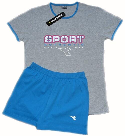 Diadora 62124 dámské pyžamo, modrá, L