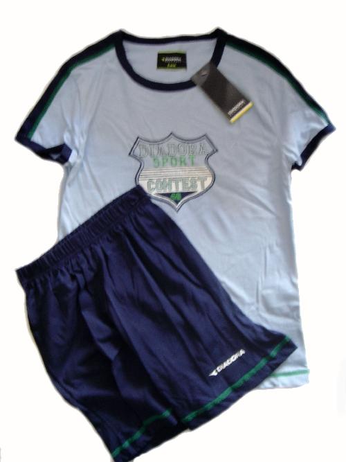Diadora 65095 chlapecké pyžamo, šedá, 9/10-134/140