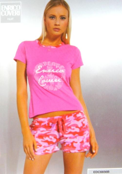 Enrico Coveri dámské pyžamo 6656, růžová, L