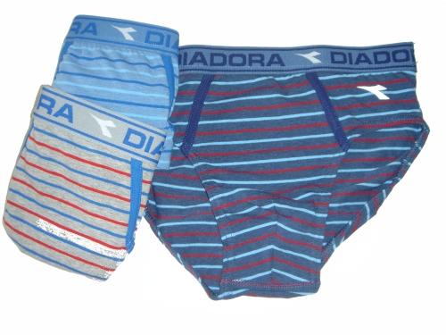 Diadora 802 chlapecké slipy, modrá tmavá, 8-128