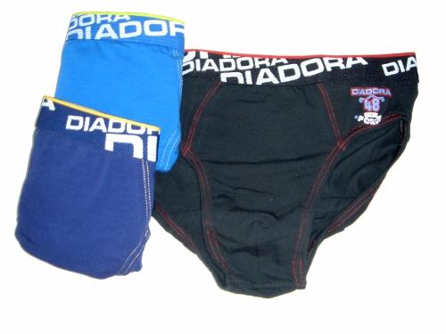 Diadora 804 chlapecké slipy, černá, 7-122