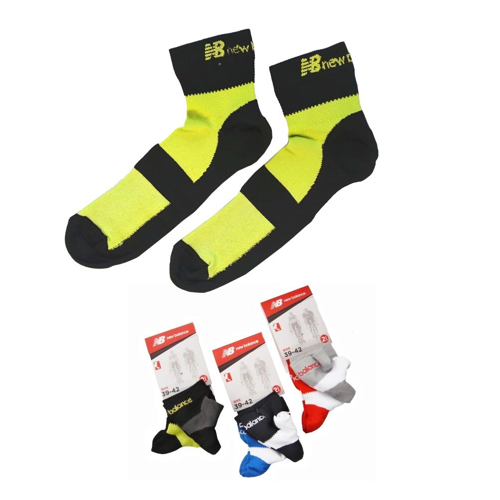 NEW BALANCE NBU70 Bike 2páry ponožky, černá, 39-42