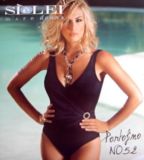 Sielei NO52 dámské plavky, černá, 85D