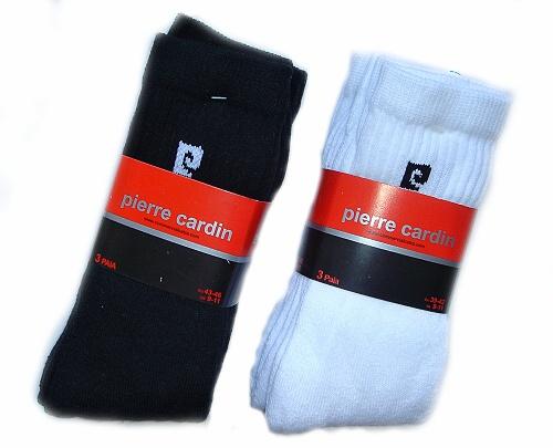 Pierre Cardin PC01 3páry pánské ponožky, bílá, 39-42