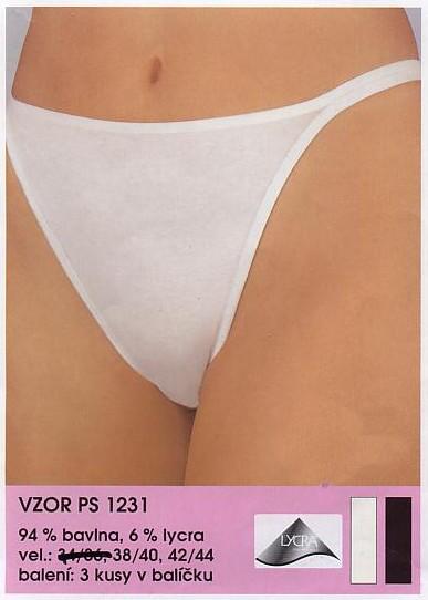 Andrie PS 1232 dámská tanga, bílá, L