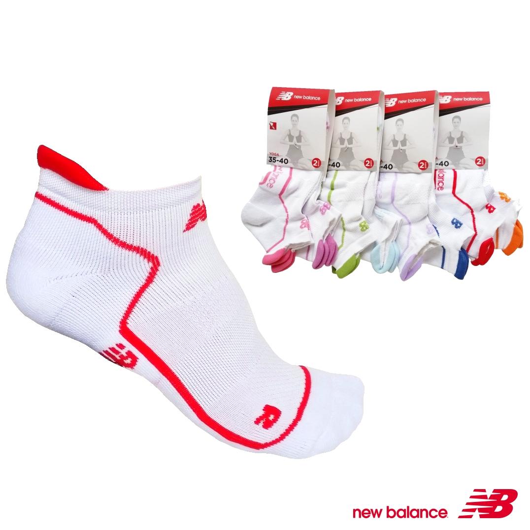 NEW BALANCE NBD27 Yoga vel.35-40 2páry dámské ponožky, bílá, 35-40