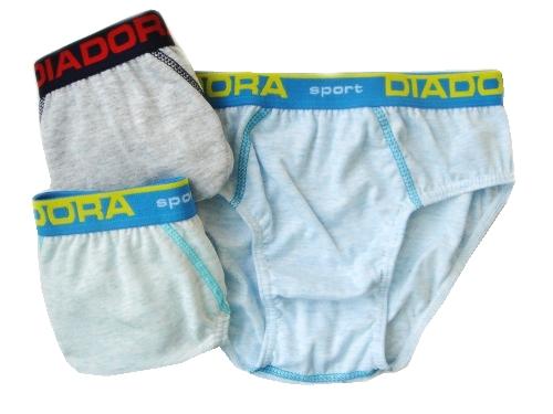 Diadora 891 chlapecké slipy, modrá světlá, 5-110