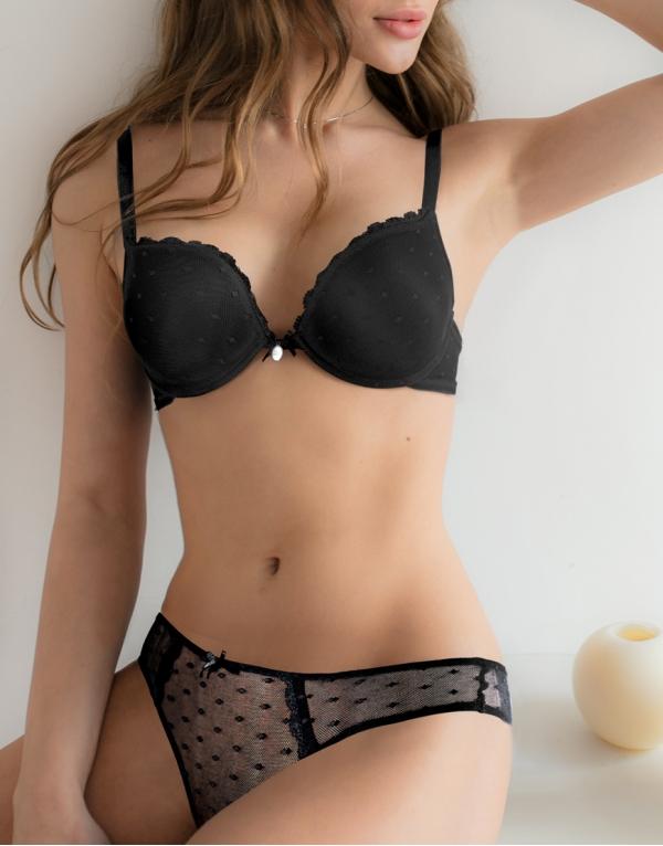 Laura Biagiotti 90421 dámská souprava podprsenka a kalhotky, černá, 70B