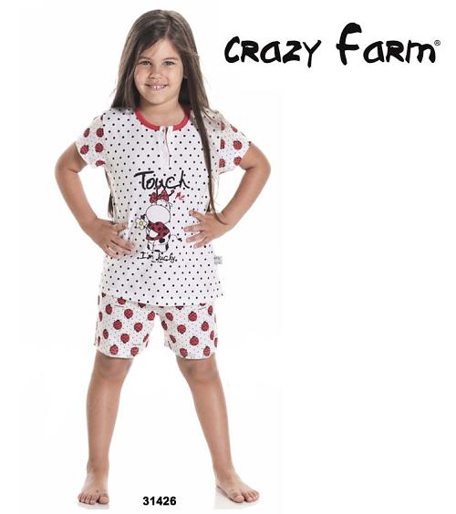 Crazy Farm 31426 dívčí pyžamo, modrá, 6-116