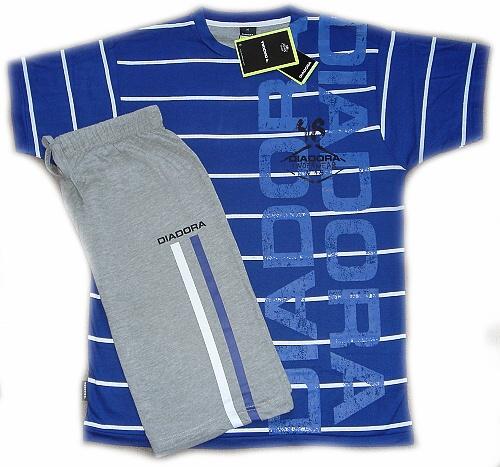 Diadora 60126 pánské pyžamo krátké, zelená, M