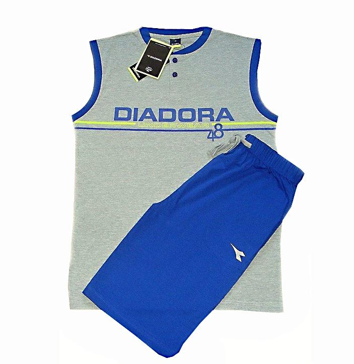 Diadora 60130 pánské pyžamo krátké, modrá, M