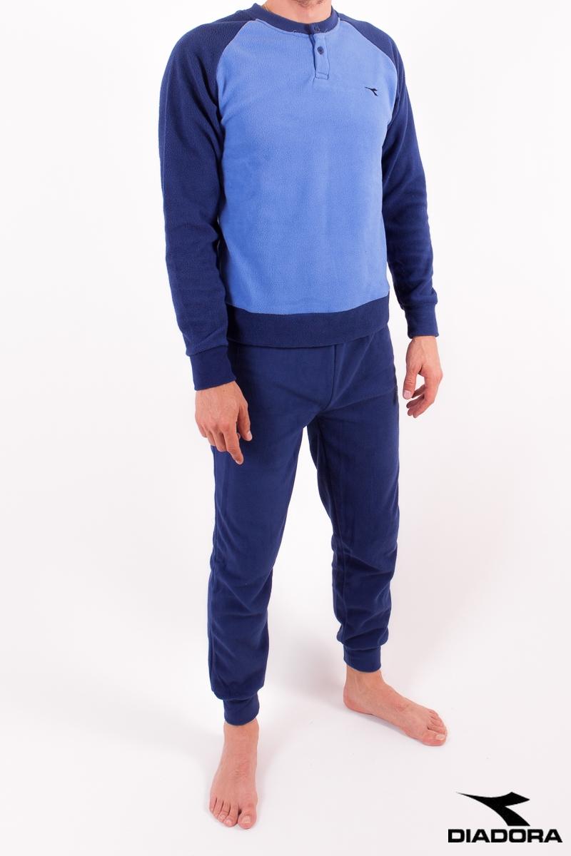 Diadora 60459 pánské pyžamo dlouhé, modrá, M