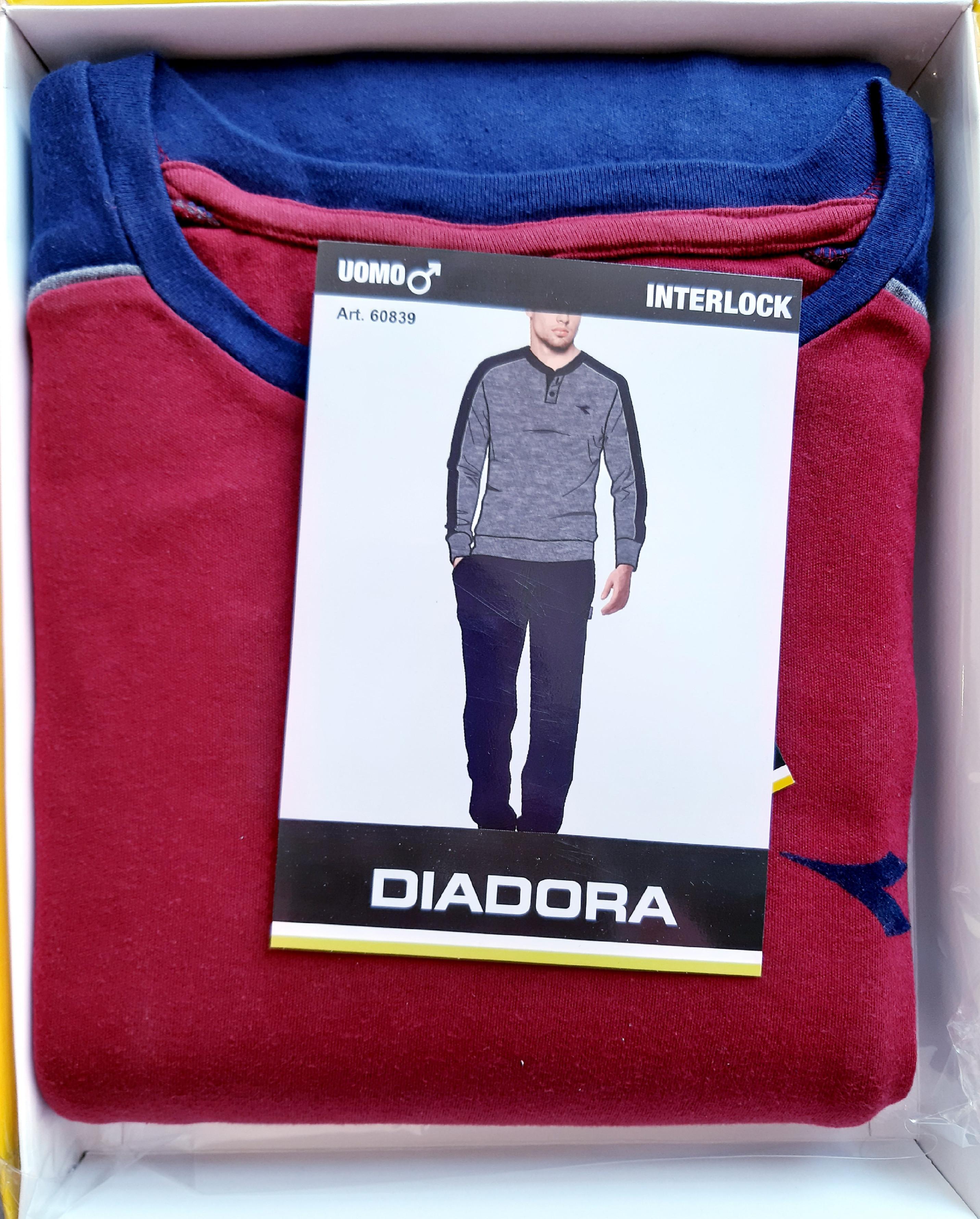 Diadora 60839 pánské pyžamo, vínová, 2XL