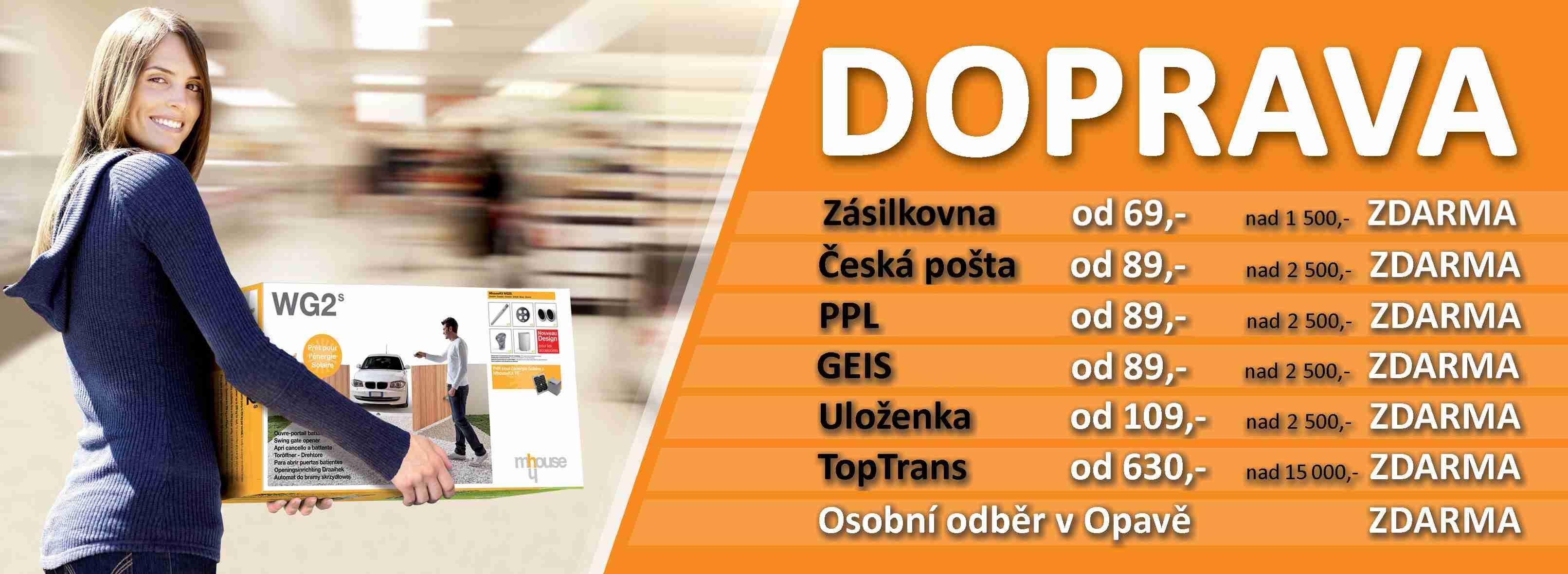 Přehled dopravy ČR Pohony-Mhouse.cz