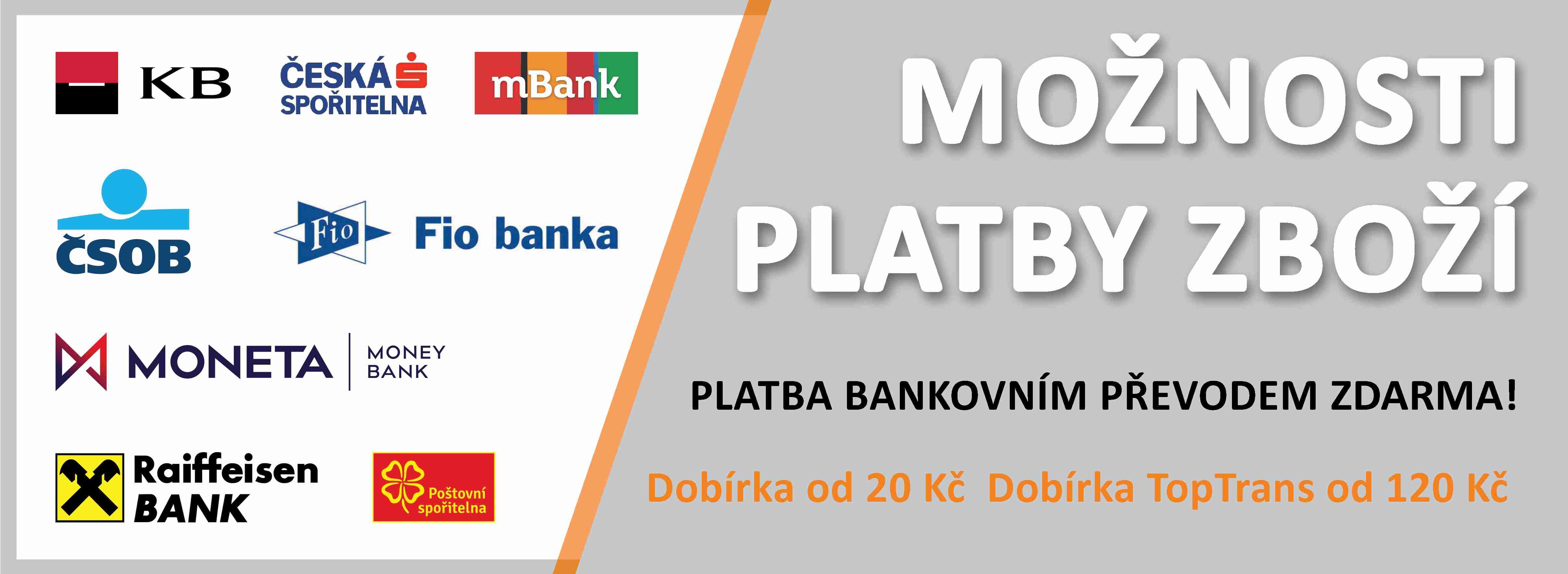 Možnosti platby zboží Pohony-Mhouse.cz