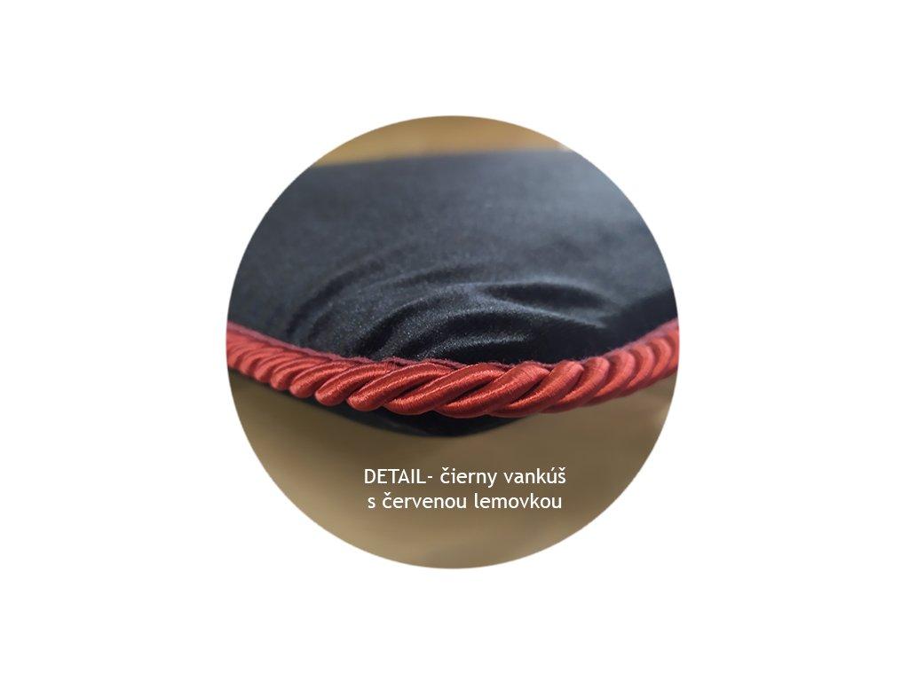 detail vankus c+cerveny lem
