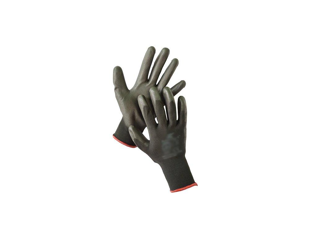Pracovné rukavice čierne, bal. 12 párov