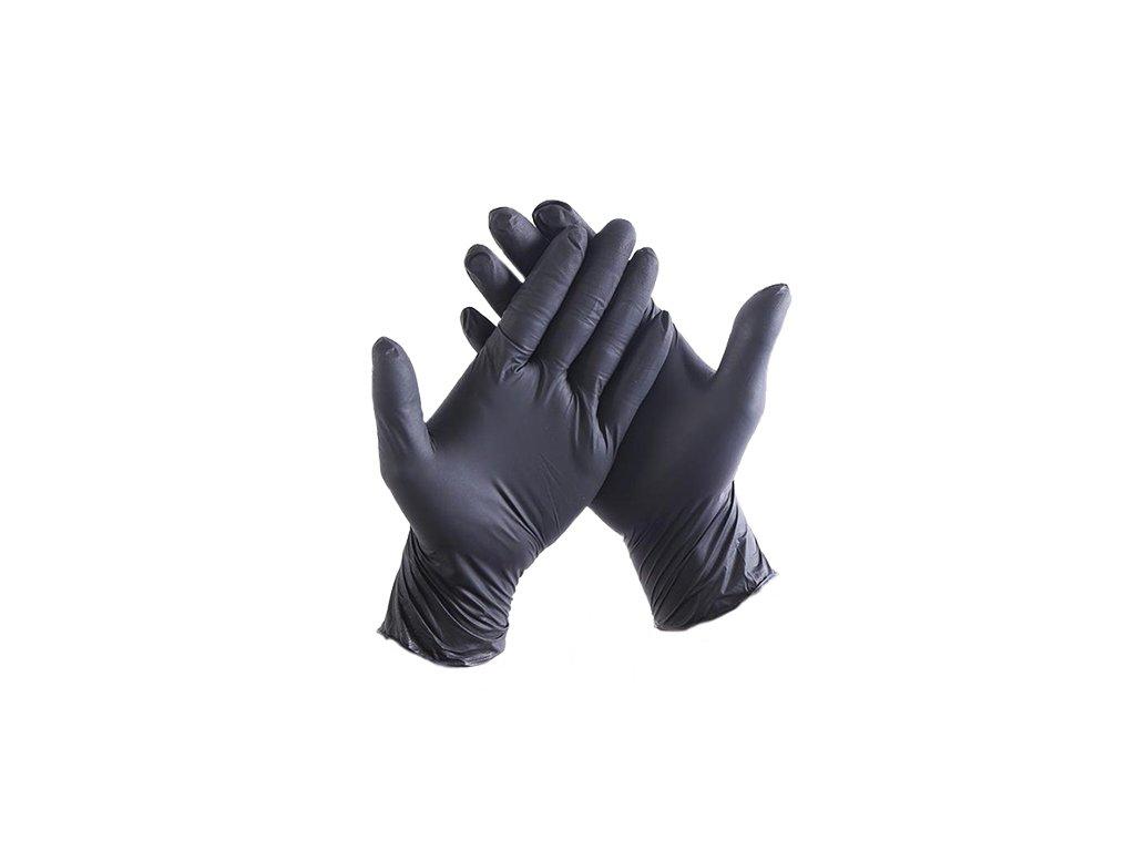cierne rukavice