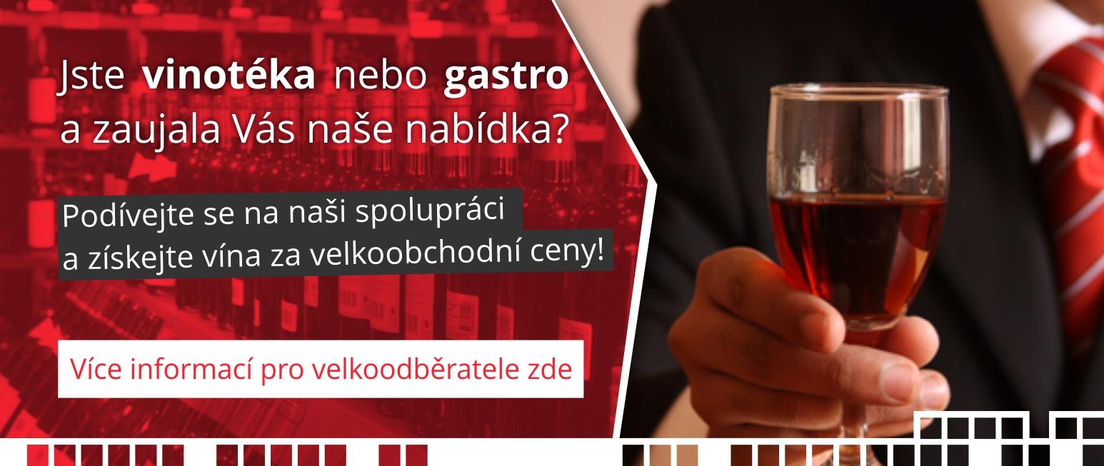 Spolupráce pro vinotéky a gastro zařízení. Staňte se naším klientem a budeme Vám pravidelně dodávat vína za velkoobchodní ceny a s pravidelným rozvozem zdarma!